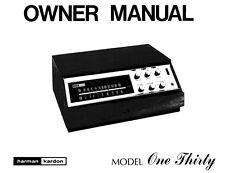 Harman Kardon 130 Receiver Owners Manual