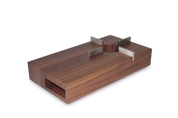 Frise bois-Réchaud 13x24cm Chai Noyer