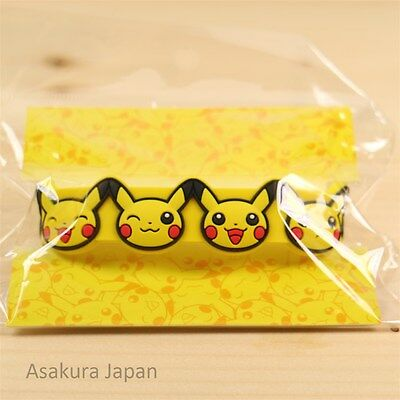 Pokemon Center Original Rubber band Pikachu face bracelet From Japan
