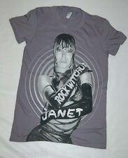 Womens S/S Tee Shirt JANET JACKSON ROCK WITCHU TOUR Gray Concert Tee S 4-6