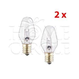 2xSalt Lamp Light Bulb Small Globe 15W Electrical Lamp Torch Twist In E14 eBay