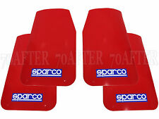 """(2 Pairs) Sparco 03791RS Universal Mud Flaps Guards (Red 11""""x18.5"""")"""