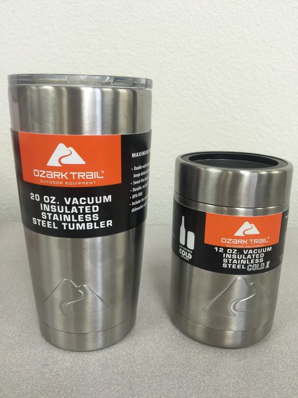 Ozark Trail 20oz Stainless Vacuum Insulated Tumbler  and Can Koozie  buy cheap new