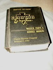 Vintage Clinton Engine Master Parts And Service Manual Outboard 1955 1960