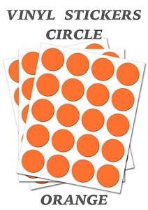 1000-Round-Orange-Circles-Self-Adhesive-Waterproof-Vinyl-Labels-size-25mm