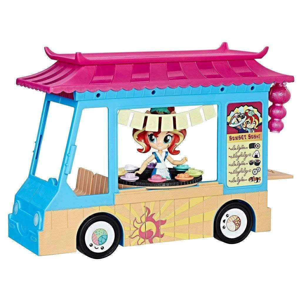 Camion Camioncino My Little Pony Sushi con Sunset Shimmer  Hasbro  contatore genuino