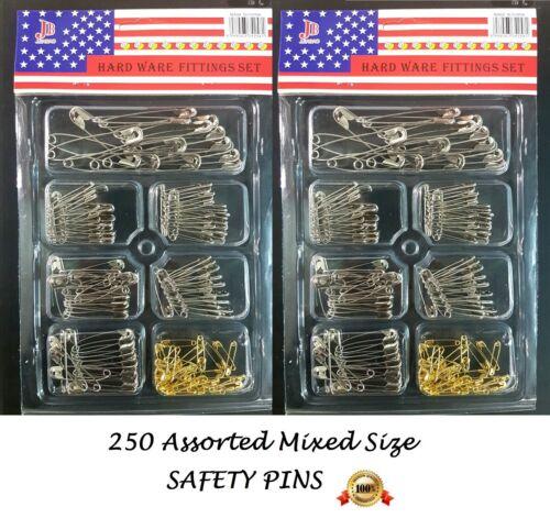 Safety Pins Hijab Scarf Abaya Shawl Party wedding craft Various sizes 250 pcs