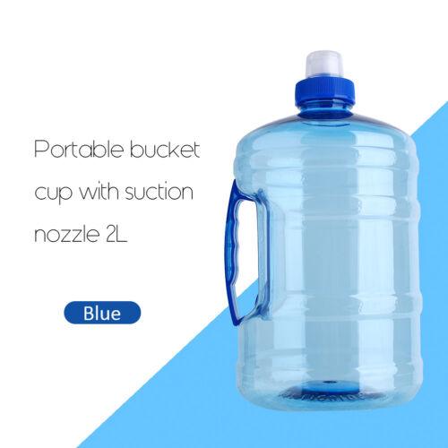 1//2L Big Large BPA Drink Water Bottle Cap Kettle PET Sport Gym Training Party TD