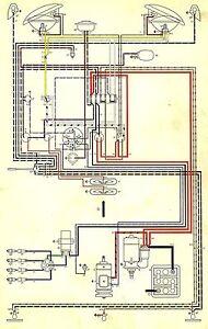 Volkswagen       Wiring       Diagram    BUS AND    TRANSPORTER    1970    VW       WIRING      eBay