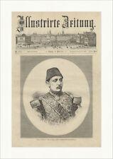 Großsultan Murad V. Abdullah Freres Osmanisches Reich Uniform Holzstich E 13537