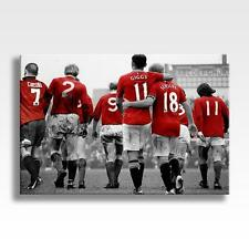 "MANCHESTER UNITED LEGENDS CANVAS Best Giggs Scholes Law Cantona 30""x20"" CANVAS"