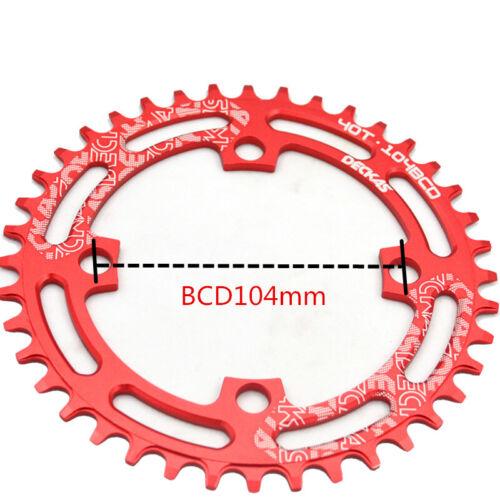 DECKAS 104bcd 32-52t Wide Crown Bike Chainwheel Chain Ring Low