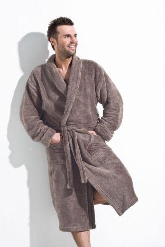 Men Gents Luxury SOFT Bath Robe Housecoat Dressing Gown Bathrobe Tie Belt M L XL