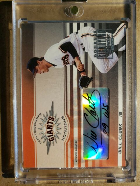 2003 Donruss Signature Will Clark SP Gold Auto World Series Inscription #15/52