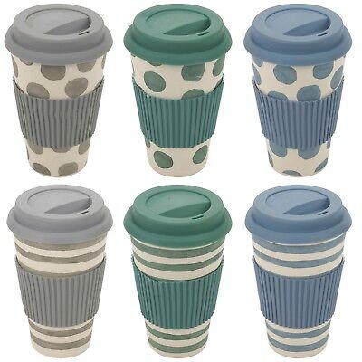 Travel Tasse à café réutilisable /& fabriqué à partir de Léger Eco-Friendly bambou fibre.