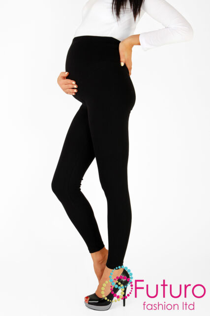 Thick Heavy & Warm MATERNITY Cotton Leggings Full Ankle Length Sizes 8 - 22