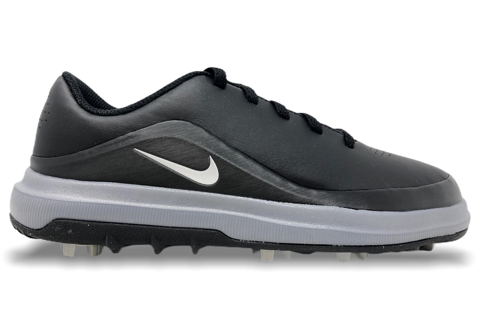 Kids Nike Precision Jr Golf Shoes Black Metallic Silver Youth Sizes 909251 002 For Sale Online