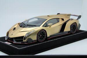 Details about 1/18 MR Lamborghini Veneno Oro Elios (Matt Gold) 01Free  Shipping/ BBR Frontiart