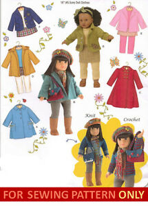SEWING-PATTERN-MAKE-DOLL-CLOTHES-FITS-AMERICAN-GIRL-JULIE-MOLLY-MCKENNA-SAIGE