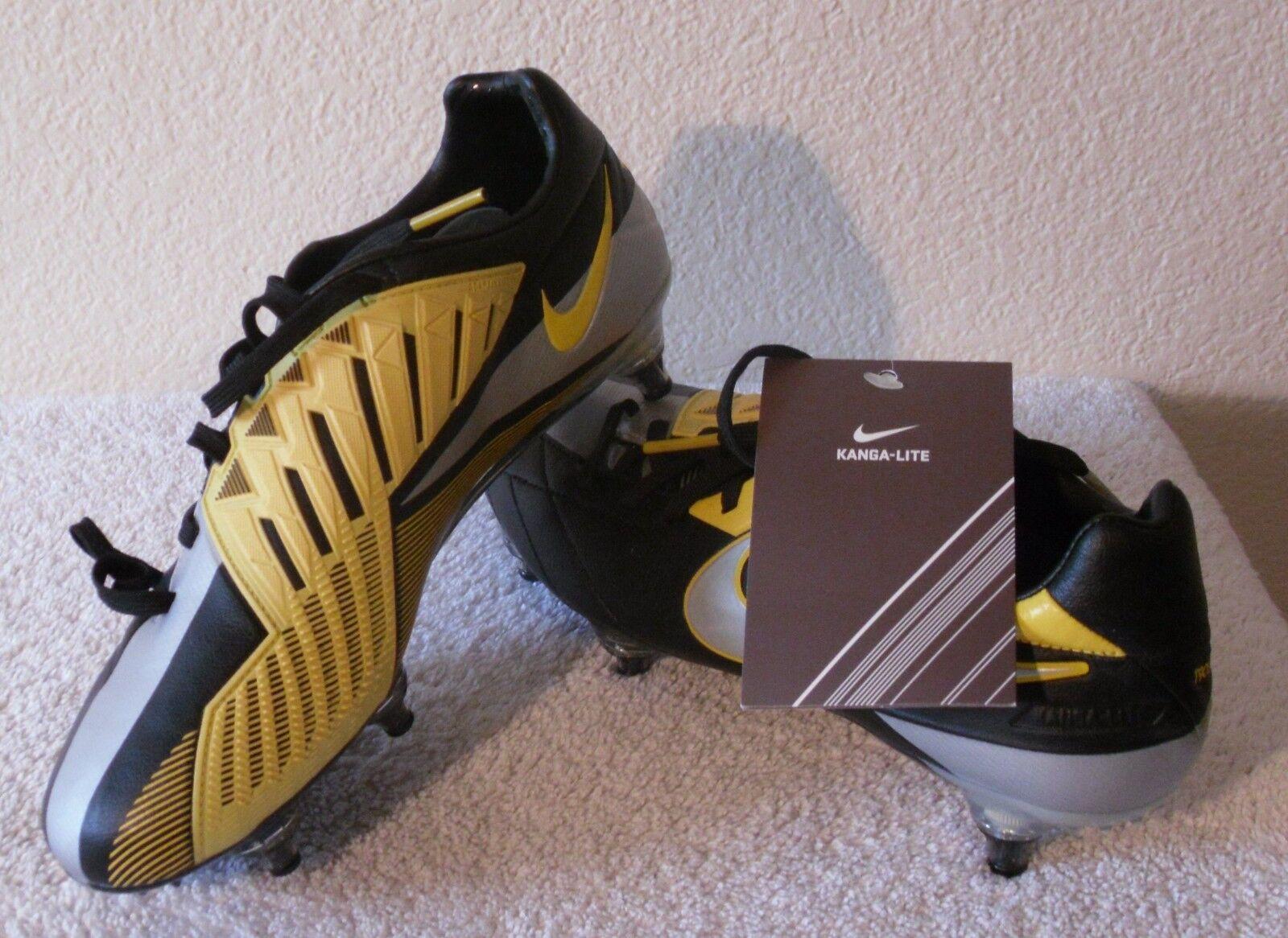 Nuevo Con Etiquetas Nike T90 Láser IV Kl-SG Hombre Botines De Fútbol 6 Negro Amarillo MSRP  220