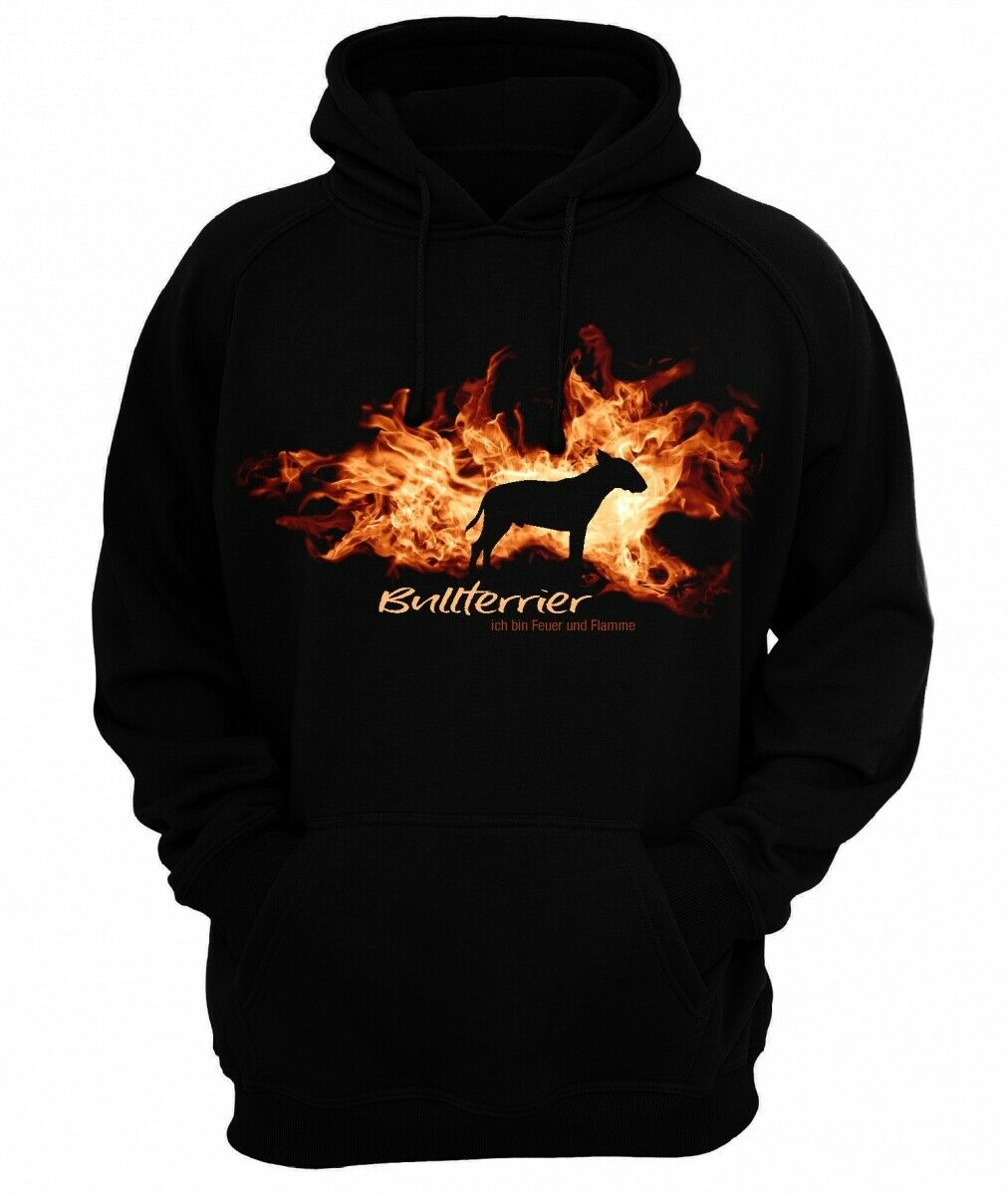 Sweatshirt BULLTERRIER FEUER UND FLAMME by Siviwonder Hoodie    Outlet    Smart    Sale Outlet