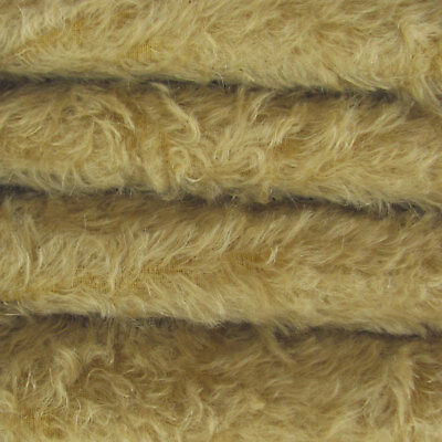 "1//4 yd 325S//CM Chocolate INTERCAL 5//8/"" Semi-Sparse Curly Matted Mohair Fabric"