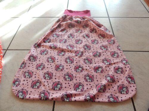 Schlafsack Pucksack Strampelsack aus Jersey rosa mit Einhörner