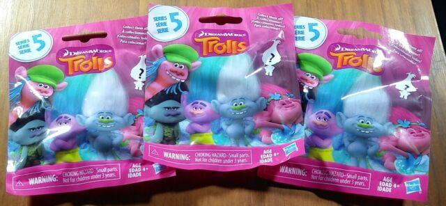 3x Trolls Series 5 Bling Bag DreamWorks Mystery Surprise Pack Hasbro Games