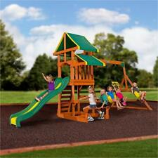 Backyard Discovery Woodridge Ii All Cedar Swing Set 6815a 6815