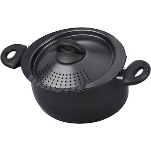 Image Is Loading Pasta Pot With Strainer Lid Oval 5 Qt