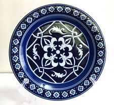 PRE-OWNED CATALINA MEDALLION BLUE BY HOME DINNER PLATE 11 INCHES