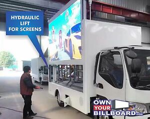 Details about Digital Mobile Billboard Advertising Truck LED Video with  Hydraulic Lift screens