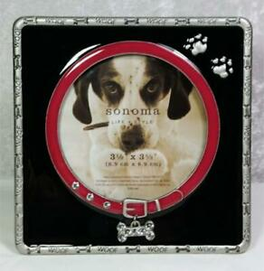 Sonoma-Dog-Frame-Photo-Size-3-5-034-x3-5-034-Tabletop-Woof-Bones-Enamel-Color-Accents