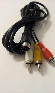 Câble Av Sega Saturn Neuf / Nouveau - 2 Un RemèDe Souverain Indispensable Pour La Maison