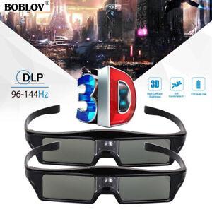 2x-BOBLOV-3D-DLP-Link-144Hz-Active-Shutter-Glasses-Movie-For-Samsung-Projector