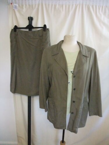 Green 1753 Top 16Skirt Jacketamp; Uk Ladies Outfit Steilmann 18Khaki Casual drBeWxQCEo