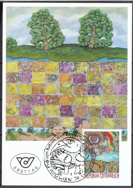 Autriche 1990 Carte Maximum Minr. 2001 Art Moderne