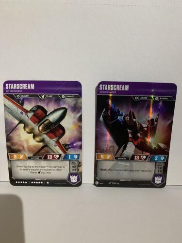 Transformers trading card game UT T36//T40 Starscream Air Commander