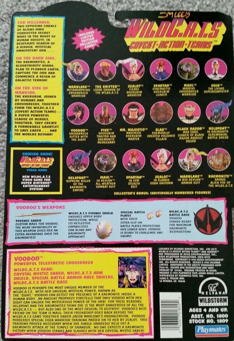 Jim Lee's WILDCATS Grifter and Voodoo Voodoo Voodoo Playmates Action Figure Unopened New lot 9cb116