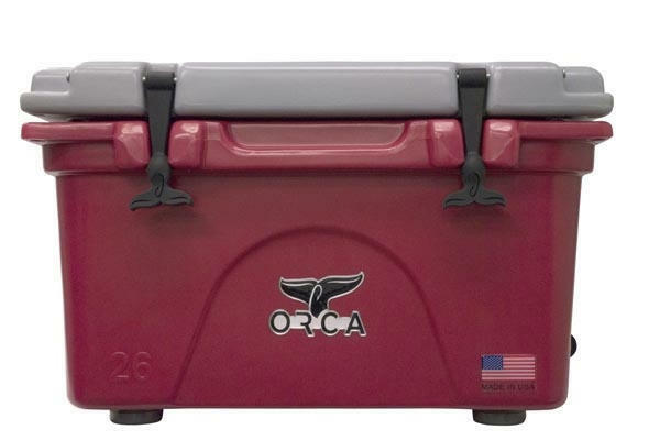 ORCA 26QT CRIMSON AND grau COOLER / LIFETIME WARRANTY / 26 QUART COOLER NEW