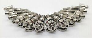 Titanium EXHAUST Manifold Stud Kit -FORD CLEVELAND ENGINE'S 3/8 UNC/UNF