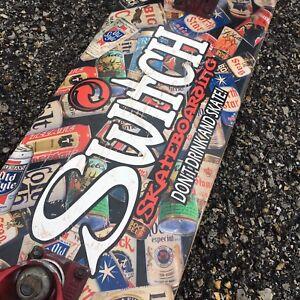 e2f19b07501 Image is loading Switch-Skateboarding-Skateboard -Longboard-Vintage-and-RARE-Beer-
