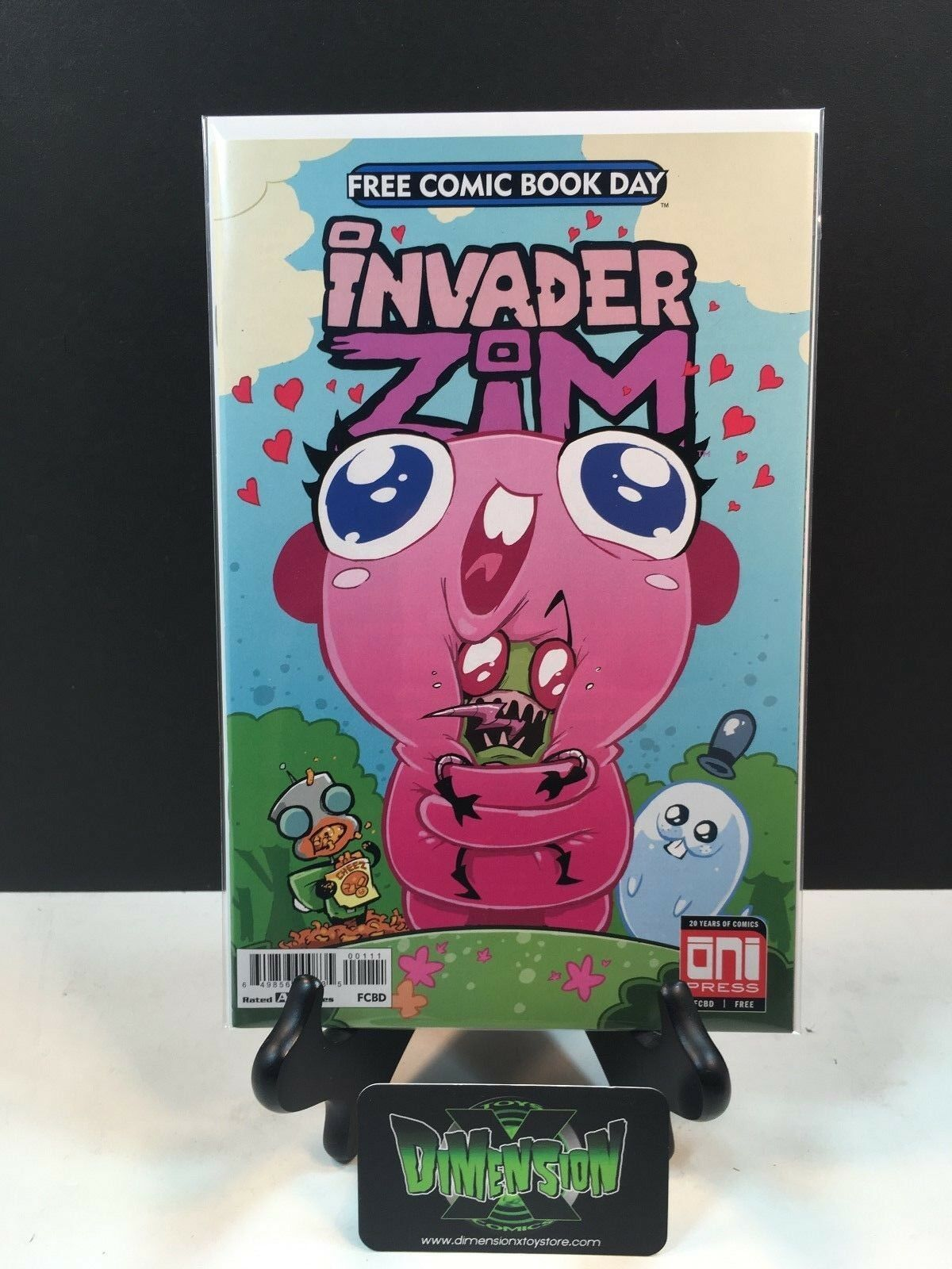Unstamped Oni Press Invader Zim Floopsy Bloops Shmoopsy FCBD 2018