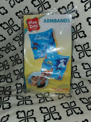 Details about  /Inflatable Swimming Arm Bands Floaties Kids Pool Shark Fish or Unicorn Design