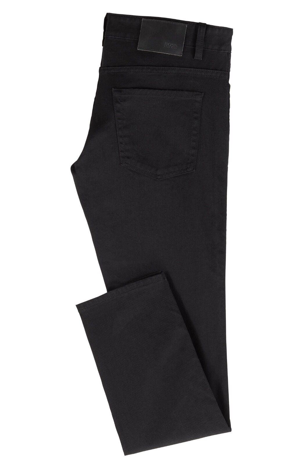 Hugo Boss Delaware3 Schmale Passform Passform Passform Schwarz Jeans 5ef46c