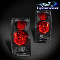 [black Clear Len] 1989-1995 Toyota Hilux Pickup Tail Lights Rear Lamps Pair on sale