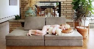 Nugget Comfort Kids Play Couch Pebble In Hand Limited ...