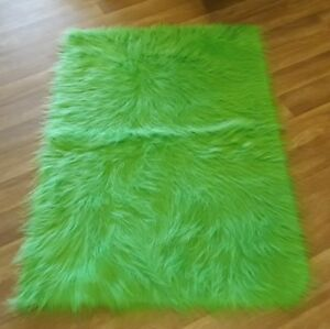 Image Is Loading New Plain Mongolian Lime Green Colour Faux Fur