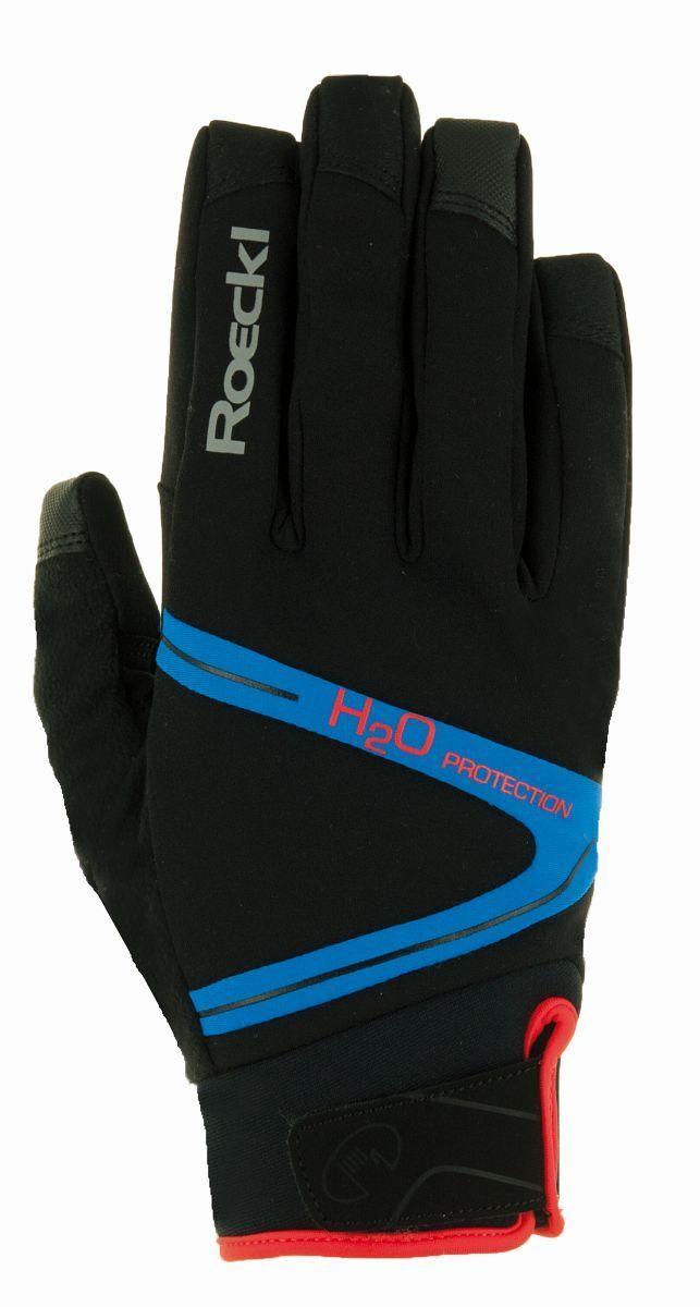 Roeckl Rhone Rhone Rhone Winter Fahrrad Handschuhe schwarz blau 2020 138587