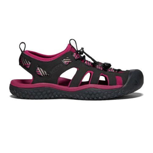 Keen Femme SOLR Chaussures De Marche Sandales-Noir Rose Sports Extérieur Respirant